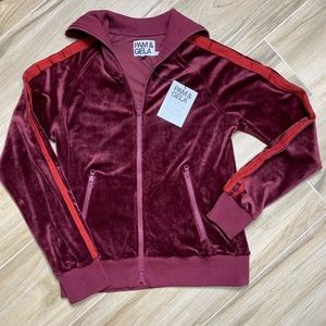 NWT Pam & Gela Track Jacket with Stripes Small